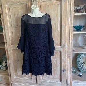 Ralph Lauren Navy Lace Dress NEW Women's 10